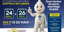 """Dia """"D"""" de vacinação contra a gripe será neste sábado em Campo Novo do Parecis"""