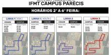 Alunos do IFMT Campus Campo Novo do Parecis terão transporte à partir de segunda