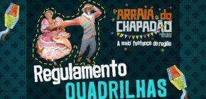 """Lançado edital para participações de quadrilhas juninas no """"5º Arraiá do Chapadão"""""""