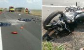 Dois morrem em acidente com moto e carreta na BR-163 entre Sinop e Sorriso