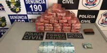 PJC e PM apreendem 25 tabletes de pasta base em Campo Novo do Parecis